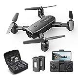 DEERC D30 Faltbar Drohne mit 1080P HD Kamera für Kinder,RC Quadrocopter ferngesteuert mit 2 Akkus,FPV Live Übertragung,Lange Flugzeit,Handy Steuerung,Tap...