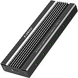 FIDECO M.2 NVME Externes SSD Gehäuse, PCIe USB 3.1, 10Gbps, Gen2 Festplattengehäuse Adapter, USB C-Festplatten-Caddy/Gehäuse für M.2 NVME SSD...