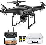Potensic FPV Drohne mit 1080P HD Kamera, RC Quadrocopter, Dual GPS und Follow me Funktion, Live Übertragung mit 120° Weitwinkel, Hochhaltung, 2 Akkus und...