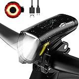 toptrek Fahrradlicht Set 70/30Lux Licht-Modi LED Fahrradbeleuchtung IPX5 Wasserdicht Fahrradlampe USB Wiederaufladbare Fahrrad Licht Einschließen Frontlicht...