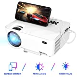 TOPVISION Mini Beamer mit Screen Mirroring,4500 Lumen Heimkino Beamer Full HD 1080P Video Beamer mit 180' Display, 60000 Stunden LED Beamer kompatibel mit...