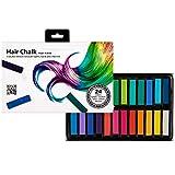 Selldorado® 24x Haarkreide - Temporäre Haarfarbe in 24 Farben - Hair Chalk - Haarkreide Kinder Auswaschbar ungiftig - Ideal als Haartönung für Halloween,...