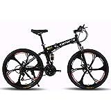 Mountainbike, Faltrad 27 Gang 26 Zoll Ölbremse Dual Suspension Scheibenbremsen Aluminiumrahmen Unisex Adult
