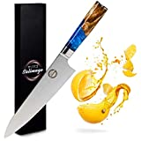 Salimago Japanisches Messer VG 10 scharfes Messer Damascus Stahl 67 Lagen [ Ultra scharfes Fleischmesser ] 30cm Kochmesser Profi Messer Küchenmesser Damast  ...