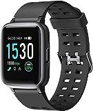 Letsfit Smartwatch, Fitness Armbanduhr Touchscreen Fitness Uhr IP68 Wasserdicht Fitness Tracker mit Pulsmesser Schlafmonitor, Sportuhr Fitnessuhr für Frauen...