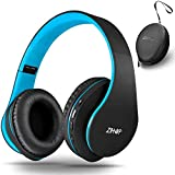 Bluetooth Over Ear Kopfhörer, Zihnic Wireless Faltbares Stereo Headset, Kabelloser Schalldämmung Kopfhörer mit Eingebautem MikrofonMicro SD/TF FM, On Ear...