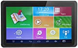 Hieha GPS Navi Navigation 7 Zoll Navigationssystem für LKW PKW 16GB 512MB Bluetooth Android Navigationsgerät Kostenloses Kartenupdate POI Blitzerwarnung...