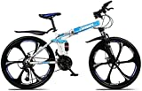 Aoyo 27-Gang-Klapprad, 26inch Mountainbike, Doppelscheibenbremse Fully Anti-Rutsch, Leichtbaurahmen, Federgabel, (Color : B 3)