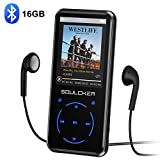 MP3 Player, 16GB Bluetooth MP3 Player mit Kopfhörer, MP3 Player Kinder mit Lautsprecher FM Radio Voice Recorder 2.4 Zoll TFT Bildschirm, Speicher Erweiterbar...