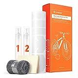 Luxshield Fahrrad Lackschutzfolie für Mountainbike, BMX, Rennrad, Trekkingrad etc. - 21-teiliges Rahmen-Set gegen Steinschlag - Transparent glänzend &...