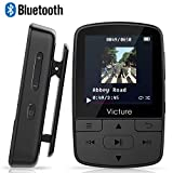 Victure Bluetooth MP3 Player 16GB Mini Sport Musik Player mit Clip, 21 Stunden Wiedergabe Musikplayer mit FM Radio, Unterstützt bis 128 GB SD Karte