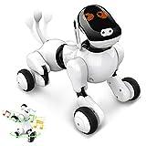 Intelligentes Roboter Hundespielzeug, Interaktives Programmierbares Wiederaufladbares Roboter Welpen Elektronische Haustier Sprach App Berührungsgesteuert mit...