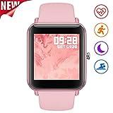Fullmosa Smartwatch für Damen 1.4' Voll Touchscreen,S3 Fitness Armbanduhr mit Puls/Herzfrequenzmonitor Schrittzähler und Gesundheitsmonitor für Frauen, IP67...