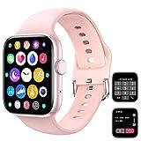 Smart Watch (Empfangen / Tätigen eines Anrufs), 1,72 '' Full Fitness Armbanduhr mit Bluetooth-Anruf Pulsuhr Blutdruck Sauerstoff Schrittzähler Schlaf Tracker...