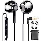 Linklike Quad Treiber 4D Stereo In Ear Kopfhörer 14,2mm Membran Deep Bass Im Ohr Ohrhörer mit Silikon Mikrofon Komfort Headphone Kompatibel mit Samsung,...