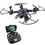 HOLY STONE F181G Drohne mit Kamera HD und 5.8 Ghz LCD Bildschirm,RC Quadcopter mit FPV WiFi Live Übertragung,Höhenhaltung,One Key Start,Kopflosmodus,3D Rollen...