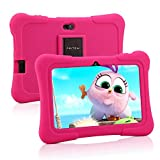 Pritom 7 Zoll Kindertablet, Quad Core Android, 1 GB RAM + 16 GB ROM, WiFi, Bluetooth, Dual Camera,Kindersicherung, Kindersoftware vorinstalliert mit...