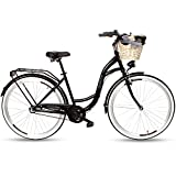 Goetze Style Damenfahrrad Retro Vintage Holland Citybike, 28 Zoll Alu Räder, 3 Gang, Shimano Nexus, Rücktrittbremse, Tiefeinstieger, Korb mit Polsterung...