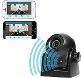 Auto Rückfahrkamera WiFi Magnetische Kamera Wasserdicht IP68-Backup-AutoKamera mit intelligenter APP kompatibel mit Android und iPhone Nachtsicht für Kfz,...