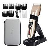 ELOKI Professionelle Haarschneidemaschine für Männer und Kinder, kabellose und wasserdichte Haarschneidemaschine, professioneller USB-aufladbarer...