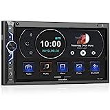 7 Zoll Doppel-DIN Digital Media Autoradio-Empfänger, aboutBit Bluetooth 5.0 Touchscreen Autoradio MP5-Player, unterstützt Rück- / Frontkamera, AM/FM / MP3 /...