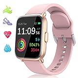LIDOFIGO Smartwatch,Fitness Tracker mit Pulsuhren,1.3 Zoll Farb Touchscreen Fitness Armbanduhr Wasserdicht IP68 Fitness Uhr mit Schlafmonitor Schrittzähler Uhr...