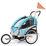 vidaXL Kinderfahrradanhänger 2-in-1 Anhänger Kinderanhänger Fahrradanhänger
