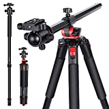 Neewer 184cm Aluminium Kamerastativ Einbeinstativ mit um 360 Grad drehbarer Mittelsäule und Kugelkopf Schnellschuhplatte Tasche für DSLR-Kamera Video...
