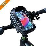Velmia Lenkertasche Fahrrad [2020er Version] Handyhalterung Mit Touch ID für Smartphones
