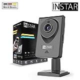 INSTAR IN-6001HD schwarz - WLAN Überwachungskamera - IP Kamera - Innenkamera – Mikrofon – Lautsprecher - Bewegungserkennung - Nachtsicht - Weitwinkel - LAN...