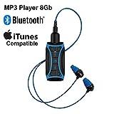 H2O Audio Stream-MP3-Musik-Player mit Bluetooth und Unterwasser-Kopfhörer für Schwimmrunden, Wassersport, kurzes Kabel, 8 GB