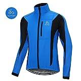 OUTON Winddichte Fahrradjacke Männer Radsport-Jacken für Herren MTB Mountainbike Jacket Visible reflektierend Fleece Warm Jacket (Blau, L)