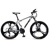 KUKU Mountainbike 26 Zoll, 21-Gang-Mountainbike Aus Kohlenstoffstahl, Vollgefedertes Mountainbike, Outdoor-Bike, Geeignet Für Sport- Und...