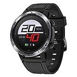 GRDE Sport Smartwatch GPS-Laufuhr 5ATM Wasserdicht Fitness Tracker mit Touchscreen Herzfrequenzmessung 7Sportmodi (Indoor&Outdoor) Smart Notifications Kompaß...