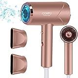 CONFU Fön Haartrockner ionen DryCare 1800W, Föhn mit 2 Styling Düsen für Hause, leistungsstarke leicht und leise 2 Temperatureinstellungen Mit extra...