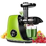 CIRAGO Entsafter Slow Juicer, BPA Frei Entsafter Gemuese und Obst, mit 2 Geschwindigkeitsmod, Ruhiger Motor und Umkehrfunktion, leicht zu reinigen und...