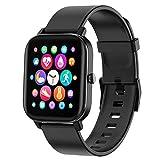 PUBU Smartwatch,Touch-Farbdisplay Fitness Armbanduhr mit Pulsuhr Fitness Tracker IP67 Wasserdicht Bluetooth schrittzähler,Sportuhr Smart Watch für Damen...