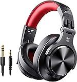 OneOdio Bluetooth Kopfhörer Over Ear Geschlossene HiFi Studiokopfhörer mit Share Port, kabelgebundene und kabellose professionelle DJ-Kopfhörer für E-Drum...
