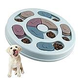 Elezenioc Hundespielzeug Intelligenz Hundefutter Welpenspielzeug,Interaktives Verlangsamen Sie das Essen von Hundespielzeug,Rutschfestes Intelligenzspielzeug...