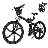 Elektrofahrrad E-Bike Klapprad, 26 Zoll Ebike Herren 250W Elektrisches Fahrrad Mit Herausnehmbarer 8Ah Batterie, Shimano 21-Gang-gänge, Citybike für Damen und...