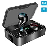 Bluetooth Kopfhörer in Ear, YONMIG Kabellos Bluetooth 5.0 Headset mit 3000mAh Ladebox Wireless Noise Cancelling Earbuds 90H Stunden Spielzeit Sport Wasserdicht...