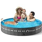 Peteast Hundepool für Große & Kleine Hunde, 160cm Faltbarer Planschbecken, PVC Verdicken Hund Schwimmbecken rutschfest Verschleißfest, ideal für...