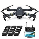 EACHINE E58 Drohne mit Kamera 720P HD Kamera, Live Übertragung,120°WeitwinkelWiFi FPV Quadrocopter, App-Steuerung, One Key Start/Landung,Headless Modus,Pocket...