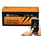 LIONTRON LiFePO4 12V 100Ah Lithium Batterie mit Smart Bluetooth BMS - Versorgungsbatterie für Wohnmobil, Boot, Camping oder Solar