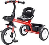 Xiaoyue Fahrräder Tricycle Indoor Praxis for Kinder Selbst Haushalt Kinder Trolley Tricycle (Farbe: Gelb, Größe: 74x50x60cm) lalay (Color : Red, Size :...