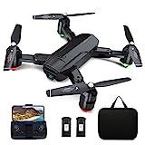 Dragon Touch GPS Drohne mit Kamera 1080P HD, haltbar RC Quadrocopter mit WiFi FPV Live Übertragung/Tap Fly/Follow Me/Höhenhaltung/3 Geschwindigkeiten/Headless...