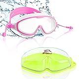 Esportic Schwimmbrille für Kinder, Profi Taucherbrille Kinder Schwimmbrillen mit 2x Ohrstöpsel, Schutzbrille Schwimmbrillen Taucherbrille Badebrille für 6-14...