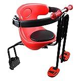 Fahrrad Sicherheits-Kindersitz, Kindersitz vorn für Damen u. Herrenfahrrad, Baby Fahrrad Sitz, Rot+Schwarz (von 8 Monaten bis 5 Jahren)