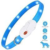 kolpop LED Leuchthalsband Hund, Hundehalsband Leuchtend USB Wiederaufladbar Led Halsband für Hunde Längenverstellbarer Hunde leuchthalsband 3 Modus Halsband...