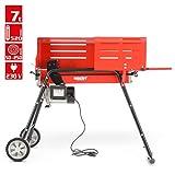 Holzspalter mit Fahrgestell, Spalter der neuen Generation - Für ein bequemes und Rückenschonendes Arbeiten - 2000 WATT POWER Motor - 7 Tonnen Spaltdruck- 200...